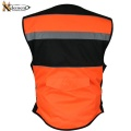 Xelement High Orange Visibility Vest with Storage Pouch CV5815-back.jpg
