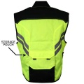 Xelement Yellow-Green High Visibility Motorcycle Vest RNV10-Back2.jpg
